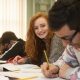Pupils working at Holy Cross College & University Centre