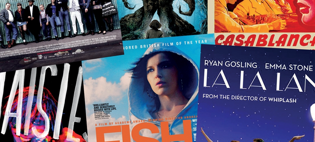 A collage of film posters to illustrate the A Level Film Studies Course
