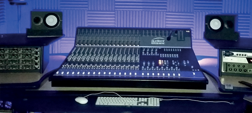 A mixing desk used in our BTEC Level 3 Music Course
